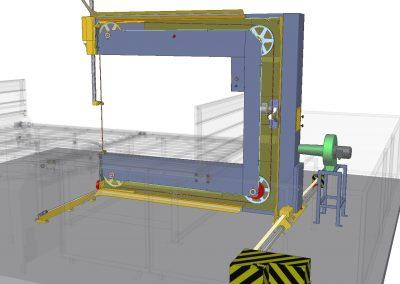 CNC vertikális hab és lágy anyag vágó berendezés főkeret