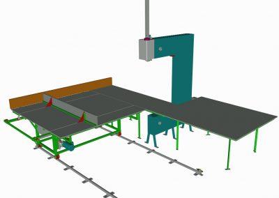 Kézi előtolású  vertikális habvágó gép