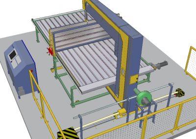 CNC vertikális hab és lágy anyag vágó berendezés
